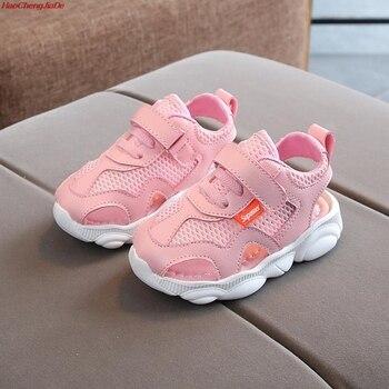 74b75475 HaoChengJiaDe chicas marcas sandalias de verano de los niños suave suela  sandalias de playa de 1-5 años de edad bebé Anti-slip lindo zapatos para  niños ...