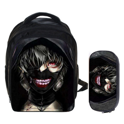 Anime tokyo ghoul Cosplay High Capacity Kids Student Backpack Kids Birthday Gift 2in1 (Backpack * Pencil Case) anime tokyo ghoul cosplay anime shoulder bag male and female middle school student travel leisure backpack page 9