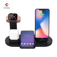 3 в 1 Подставка для зарядки для Apple Watch, беспроводная зарядная станция для iPhone x xr xs, вращающаяся зарядная док-станция