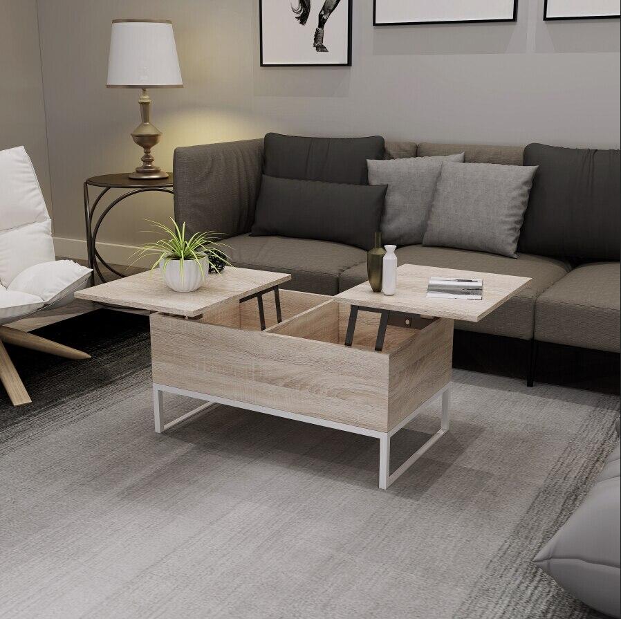 HappyHome Table basse de stockage de levage multifonctionnelle avec cadre de levage intelligent pratique Table de bout créative bureau d'armoire
