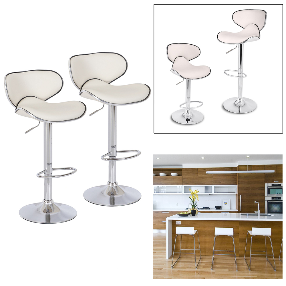 цена на 2pcs Beige Height 84-105 cm Home Kitchen Breakfast Bar Stools Modern Bar Stools Pub bar Chairs Swivel Adjustable Chairs Stools