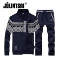 Jolintsai Men Sportswear 2017 Brand Clothing Men Tracksuits Sets Zipper Print Men Cool Hoodies Sweatshirt Pant Set Sweat Suit
