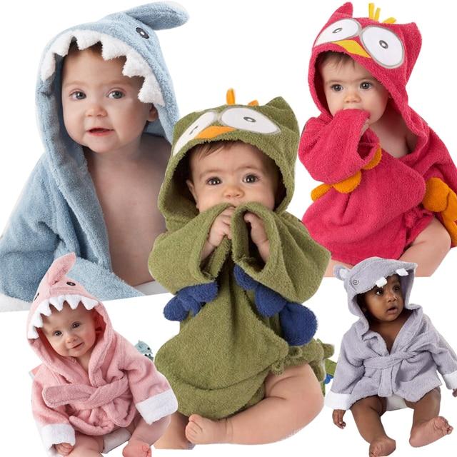 Trẻ em Phim Hoạt Hình Robes Chàng Trai Động Vật Cô Gái Flannel Đồ Ngủ Đồ Ngủ Bé Áo Choàng Tắm Romper Kids Home Mang Khủng Long Đồ Ngủ Cloak