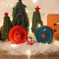 New Novomill e-Button Bluetooth speaker Christmas edition Portable Wool fiber HIFI Button Model Wireless music player Subwoofer