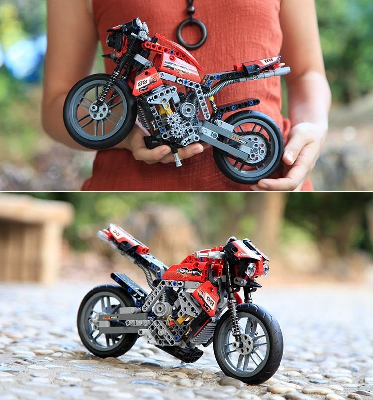 Decool 3353 431pcs Speed Technology Series motorcycle Toy building blocks Exploiture Model gift racing set