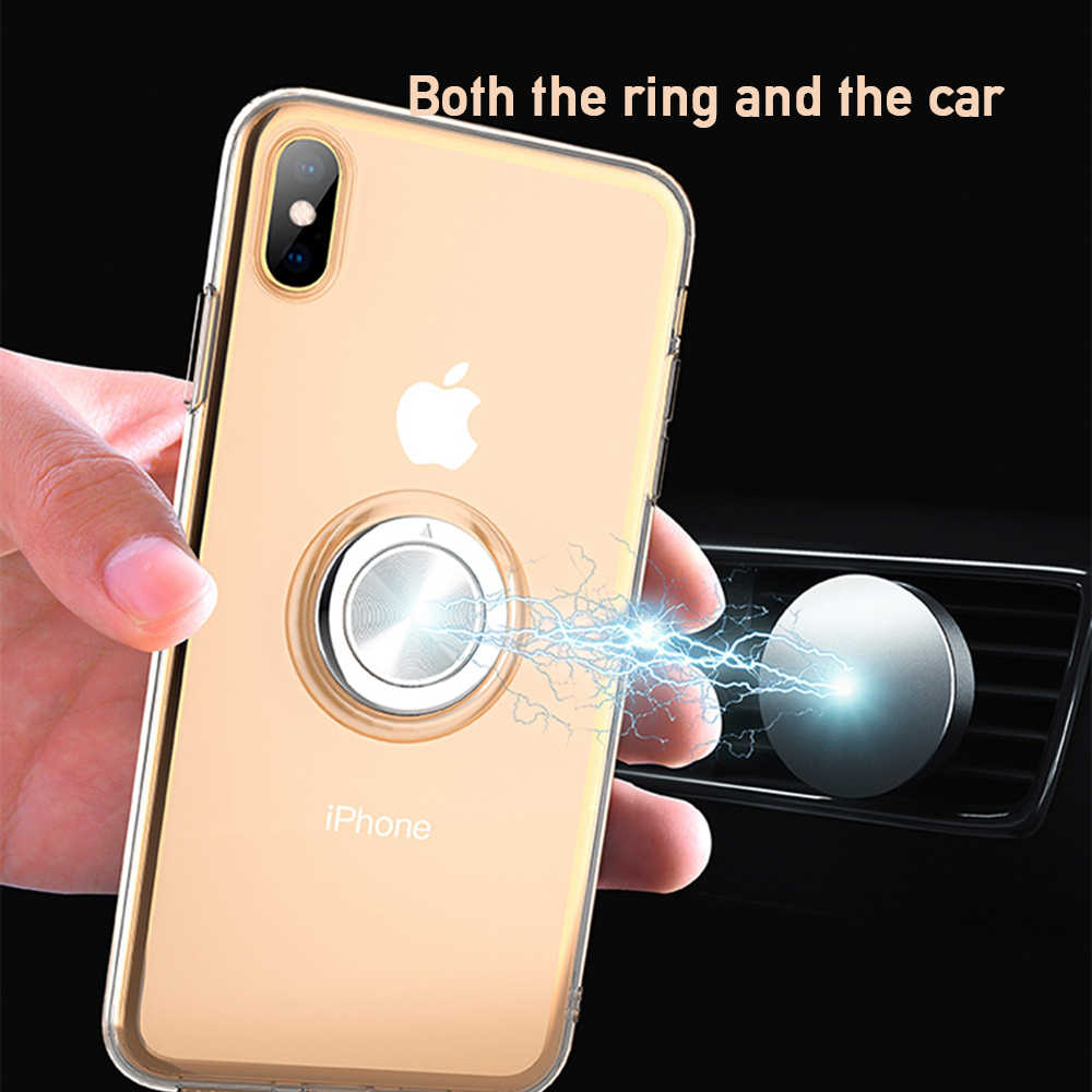 OTAO Ultra Thin Soft TPU Magnet Phone Case For iPhone XS MAX X XR Full Body Slim Protective Cover For iPhone 8 7 6 6S Plus Coque