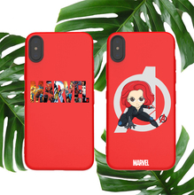Marvel soft case for iphone X XS MAX XR 8 7 6 6S plus phone cover matte silicone Avengers Black Widow Natalia coque capa fundas