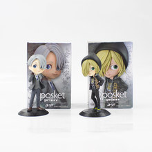 15cm YURI!!! on ICE Victor Nikiforov Yuri Plisetsky action figure model toy black base hot anime YURI!!! on ICE Yuri Katsuki(China)