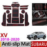 Anti-Slip Tor Slot Matte Gummi Tasse Matten für Subaru XV 2018 2019 2020 Crosstrek WRX STI Nicht- silp Zubehör Aufkleber Auto Styling