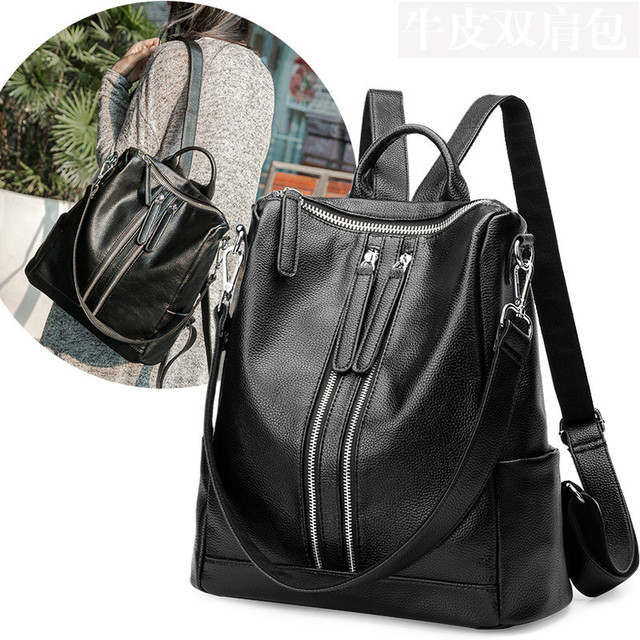 2017 new Korean fashion leather Backpacks student bags For Teenagers Girls Female Travel Back Pack