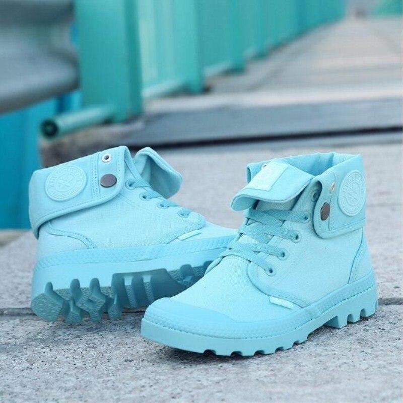 Nuevos zapatos de lona de las mujeres de moda Otoño y el invierno SECCIÓN DE VENTA flanging mujeres gruesas botas de tendencia salvaje zapatos Casuales