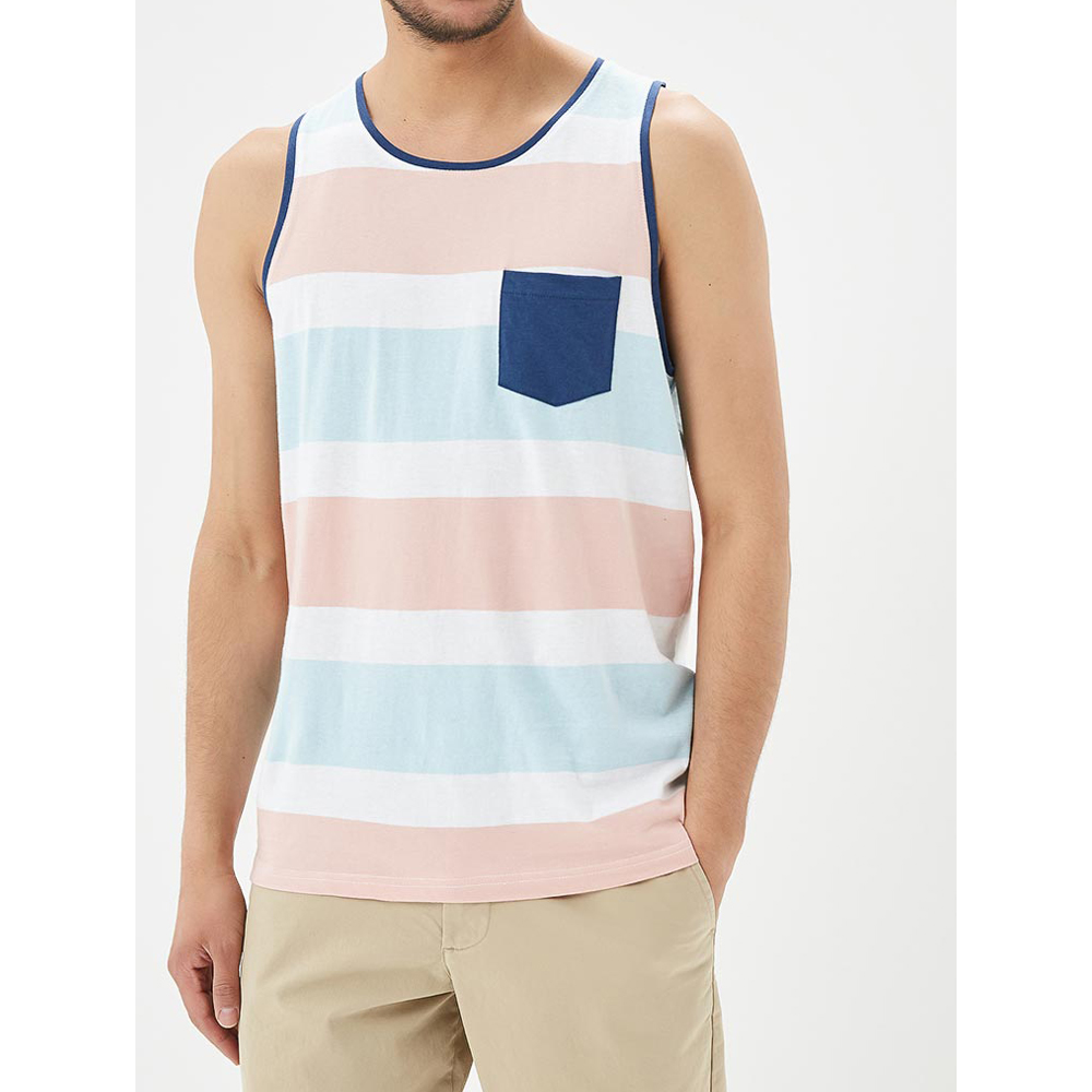 Tank Tops MODIS M181M00274 men t shirt top for male TmallFS hanky hem floral print cami tank top