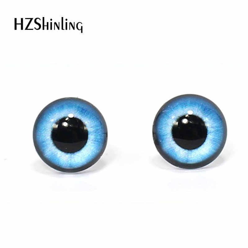 3 пары 12 мм ручной работы Круглые красочные стеклянные глаза Дракон Монстр глаза стекло DIY животные куклы игрушечные глаза аксессуар