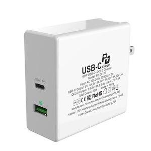 Image 4 - Typu C PD Adapter 60W szybka ładowarka USB ue usa wielka brytania szybkie ładowanie telefonu komórkowego USB dla MacBook iPhone XS Max Samsung Xiaomi Huawei