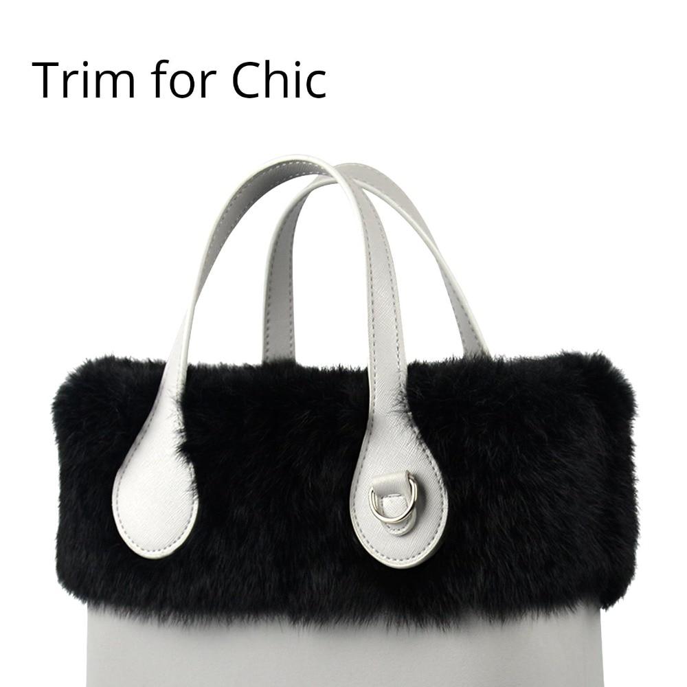 2018 New Women Bag Decoration Real Rabbit Fur Trims Plush Trim For Chic O BAG Thermal Plush Fit For Ochic Obag