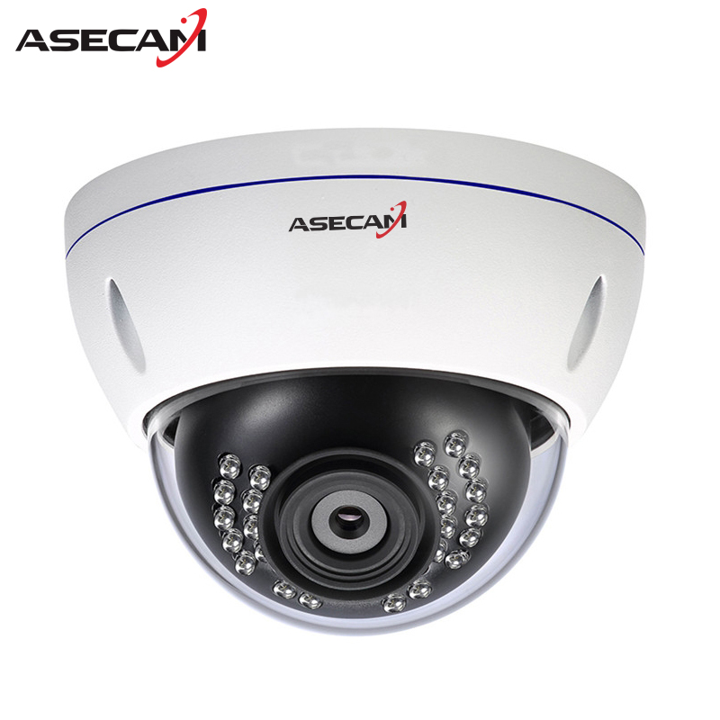 Asecam 720P Surveillance Dome Metal White Onvif  IP Camera POE 48V CCTV Indoor WebCam Security Network Cam Free shipping недорого