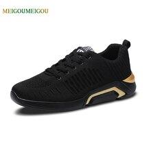 MEIGOUMEIGOU 39-44 Size Shoes Men Breathable Mesh Upper Men Casual Shoes Cool Design Slip Resistant Men Vulcanize Shoes No Smell