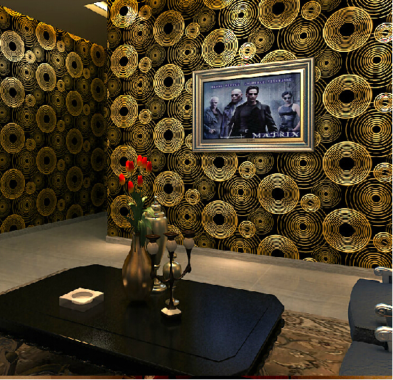Modern luxury gold background wallpaper 3d embossed pvc for 3d wallpaper waterproof