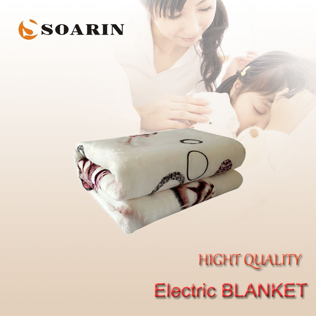 Soarin Electric Blanket 150x80cm Heating Flannel Single Small Heated Blankets Manta Electrica 220v