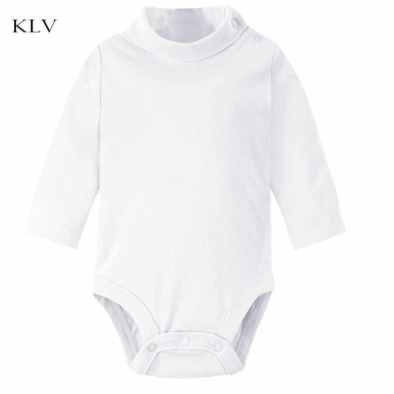 Водолазка для новорожденных; одежда для тела; хлопковый однотонный комбинезон с длинными рукавами и открытыми плечами; Новинка