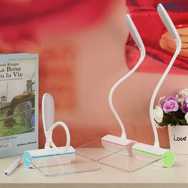 LED Настольная Лампа Настольная Лампа Ночник Аккумуляторная Складной Затемнения С Доской Объявлений Сенсорный Выключатель Для Студентов Дети 5 В