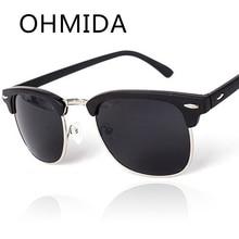OHMIDA Párrafo gafas de Sol de Espejo de Los Hombres Gafas de Moda Diseñador de la Marca de La Vendimia Oculos gafas de Lentes de sol de Las Mujeres Retro