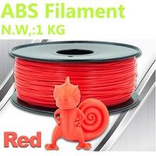 Красный Цвет 3d принтер провода abs нити 1,75 мм 3d Принтер abs пластик PinRui пластиковые нити 1 кг abs материалы для 3D-печати