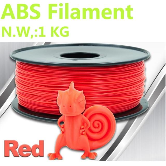 Rote farbe 3d drucker draht abs filament 1,75mm 3d drucker abs ...