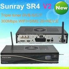 2 unids/a lot sunray sintonizador triple SR4 V2 Wifi 3 en 1 receptor de satélite sunray4 800 se sr4 Sim2.20 v2 Sistema Enigma2 Envío gratis