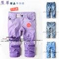 Primavera outono crianças calças Capris legging calças do bebê roupas meninas