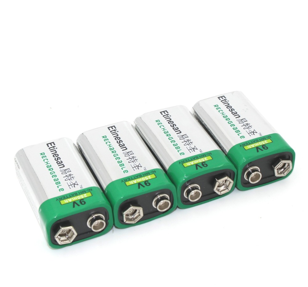 9 Volt Batterie Us 18 19 35 Off 4pcs Lot Etinesan 250mah 9v Nimh Rechargeable 9 Volt Battery Wireless Microphone Toy Mike Multimeter Cheap And Good In