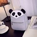 3D Panda Mochilas de Couro Pu Mulheres Sacos de Ombro Bonito Pequenos Animais Mochilas Girls School Mochilas Mini Mochila Faculdade Packs