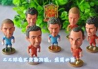(9 pcs/set) KODOTO Tây Ban Nha ESP đội tuyển quốc gia bóng đá bóng đá sao cầu thủ bộ sưu tập Dolls Cartoon đồ chơi Casillas Iniesta Xavi Ramos