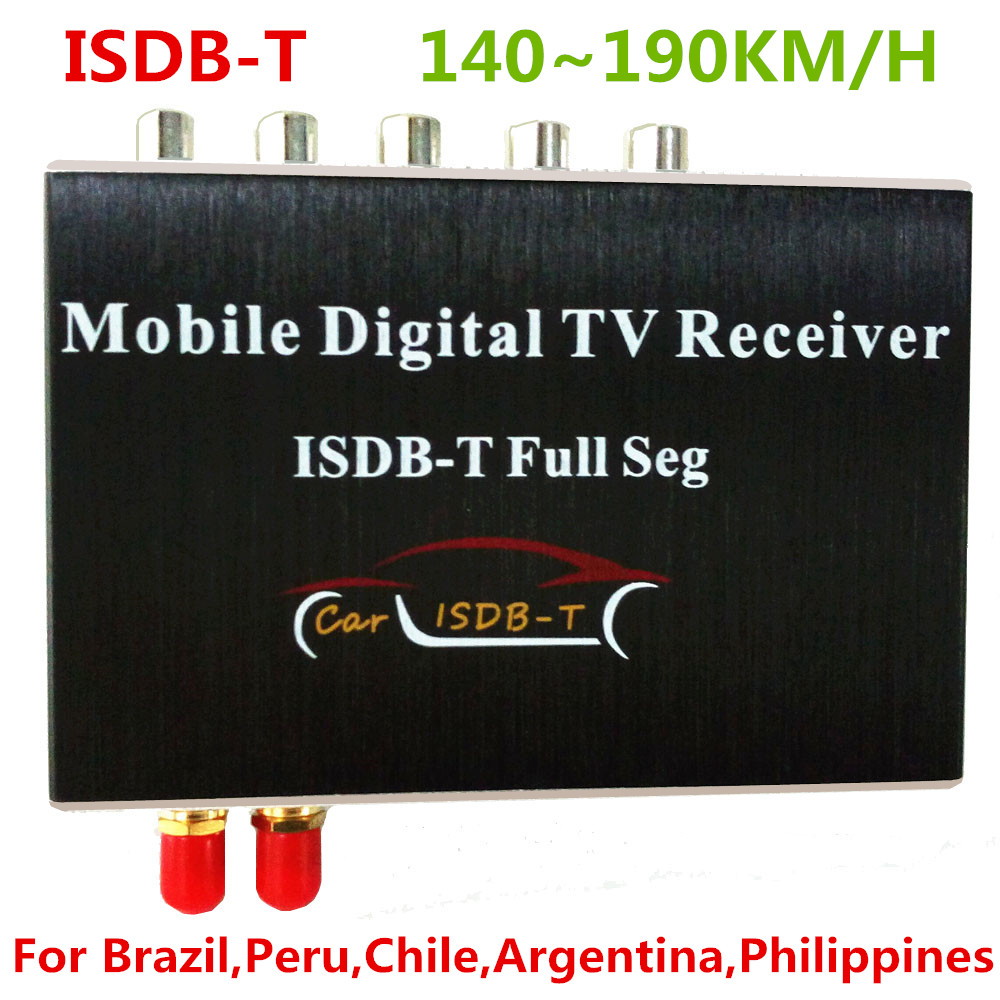 Car ISDB-T Dual tuner Full SEG Digital TV Tuner Receiver Box For Brazil Chile Peru Argentina South America Philippines dvb t2 car 180 200km h digital car tv tuner 4 antenna 4 mobility chip dvb t2 car tv receiver box dvbt2