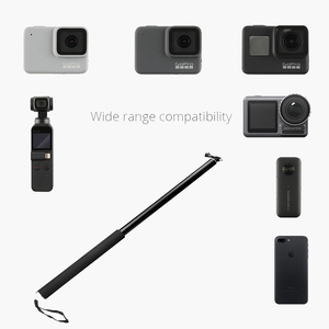 Image 4 - 3M אלומיניום סגסוגת חדרגל Selfie מקל עבור Insta360 אחד X/X2/DJI אוסמו פעולה/כיס/gopro גיבור 7 6 5 Sjcam מצלמה אבזרים