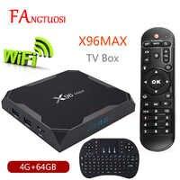 X96 Max Android 8.1 Smart TV BOX Amlogic S905X2 LPDDR4 Quad Core 4GB 64GB 2.4G&5GHz Wifi BT 1000M H.265 4K Set top box X96Max