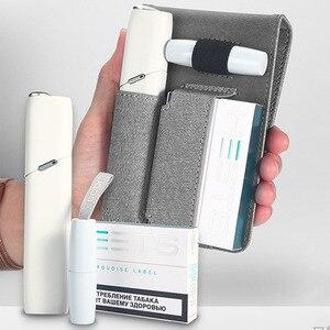 Image 3 - Jinxingchengためiqosマルチ3.0ホルダーボックスレザーケースフリップ財布ポーチバッグと充電器iqosマルチ充電