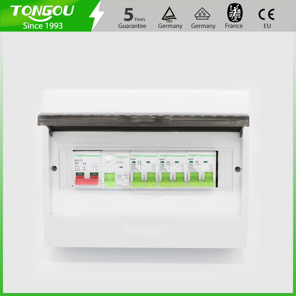 12 ways distribution box consumer unit 63A 2P RCD circuit breaker protection plastic box 5 years