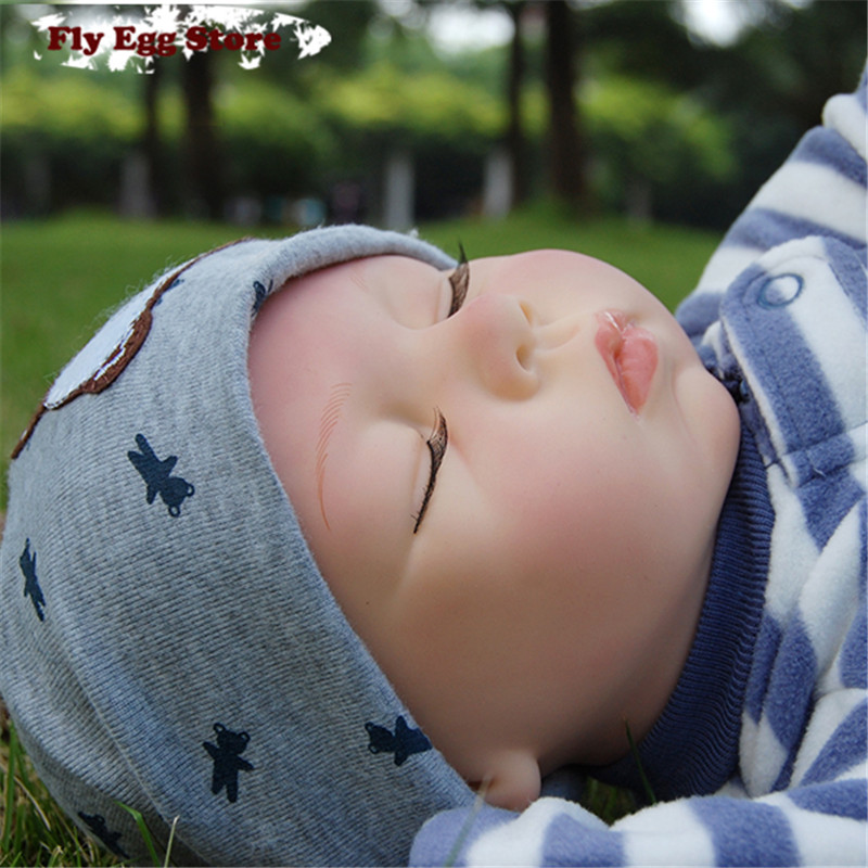 ФОТО Hot  22'' Reborn baby Cotton body New born doll girl Lifelike kid Pretend Play toy Sleep without hair silicone reborn baby doll