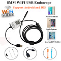 WIFI Endoscope 8MM Len 6 LED Waterproof Borescope Inspection Video CCTV Camera Videcam Inspection Phone Android IOS Endoscope