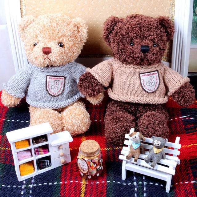2019 New Arrival Recording Teddy Bear Plush Stuffed Toys 30CM Cotton Material Korean Lovers Teddy Bear Gift  baby boy toys