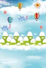 bf14bba705 Laeacco Cartoon Hot Air Balloon Elephant Scene Baby Photography Backgrounds  Customized Photographic Backdrops For Photo Studio