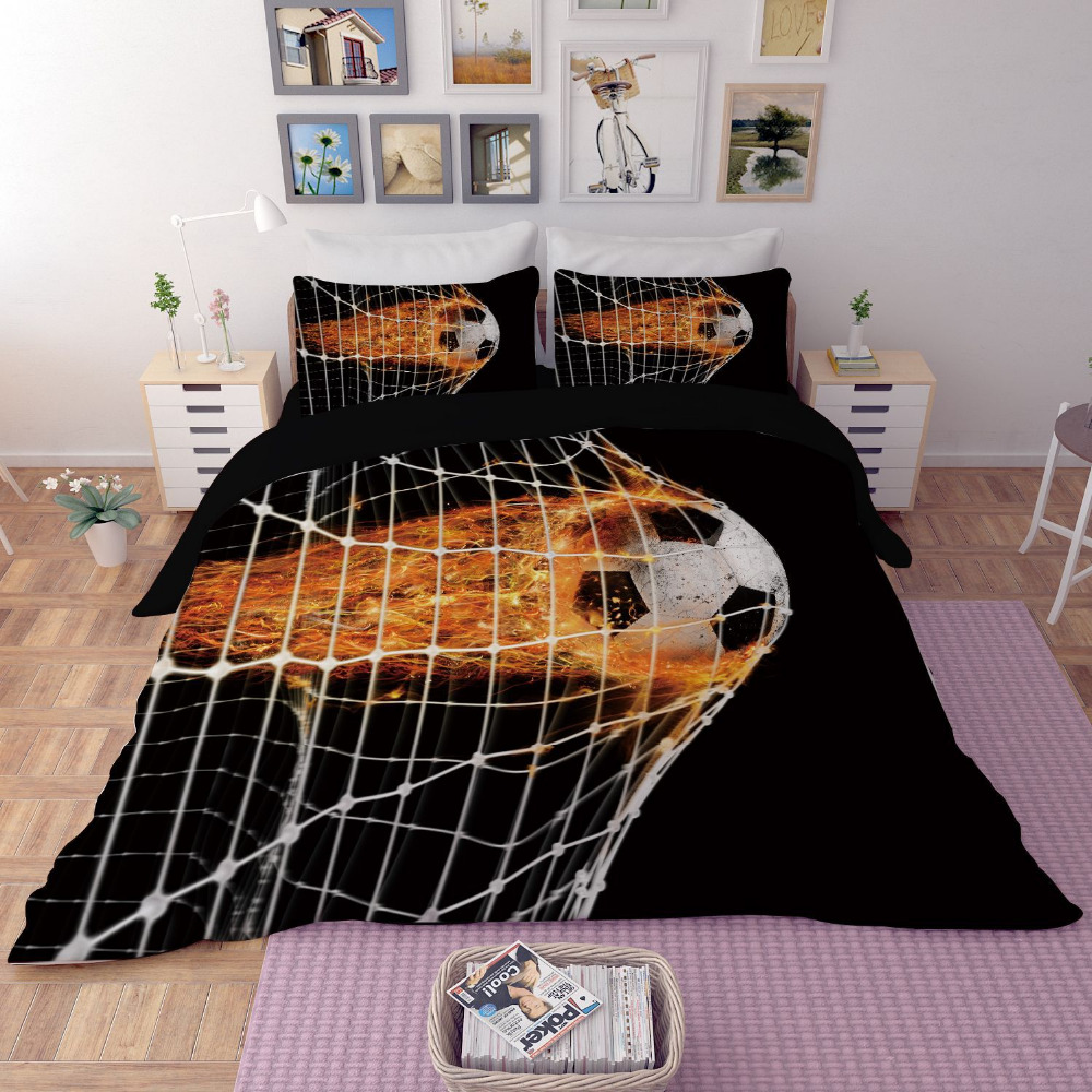 Tennis Football Basketball Bedding Set Twin Queen King Size Bed Sheet Duvet Covers Cool Design Textiles for Teen Boys or AdultsTennis Football Basketball Bedding Set Twin Queen King Size Bed Sheet Duvet Covers Cool Design Textiles for Teen Boys or Adults