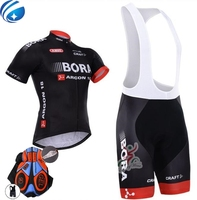 New 2017 Team BORA Cycling Jersey Bike Shorts Set Ropa Ciclismo Quick Dry Mens Pro Cycling