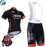 New 2017 Team BORA Cycling Jersey Bike Shorts Set Ropa Ciclismo Quick Dry Mens Pro Cycling