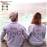 Women T Shirt O Neck Couple T Shirt King Queen Fashion New Style Full Sexy Vetement