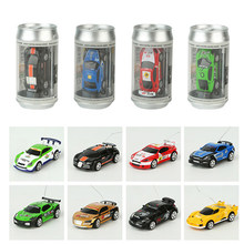 8 Colors 20Km/h Coke Can Mini RC Car Radio Remote Control Car Micro Racing Car 4 Frequencies Toy For Kids Gifts RC Models(China)