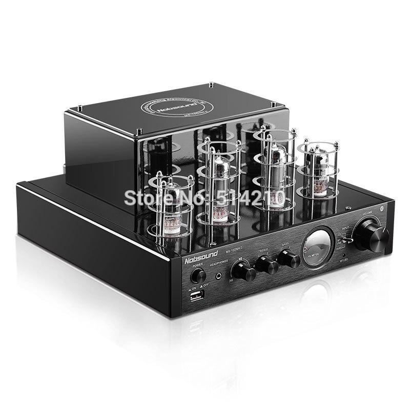 NOUVEAU noir Nobsound MS-10D MKII Hifi 2.0 tube amplificateur USB/Bluetooth amplificateur Audio Amplificateur 25 W * 2 HAUT vente