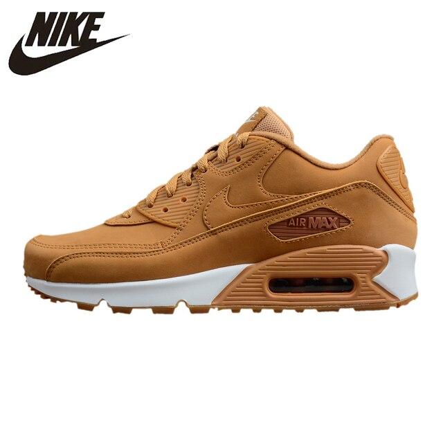 Nike Air Max 90 zapatos de correr esenciales para hombre, zapatillas de deporte al aire libre, amarillo, calor de envoltura antideslizante absorbente de golpes 881105