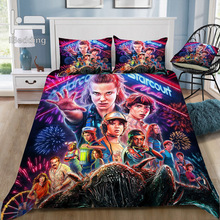 Hot  Horror Movie Stranger Things 3D Bedding Set Printed Duvet Cover Set Twin Full Queen King Size Dropshipping